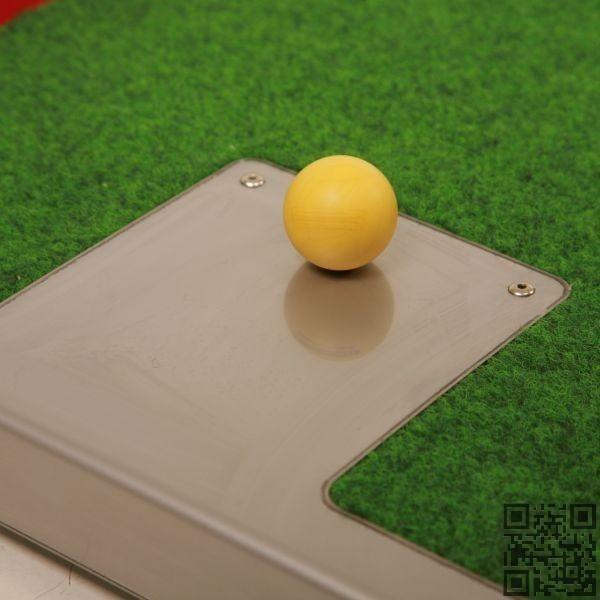 Placa de tope en acero inoxidable minigolf tee