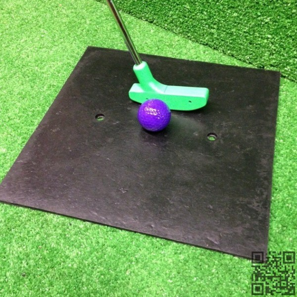 Placa de tope en goma. Mini Golf tee pad