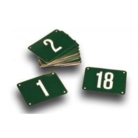 Numeros para pistas de minigolf set 1-18